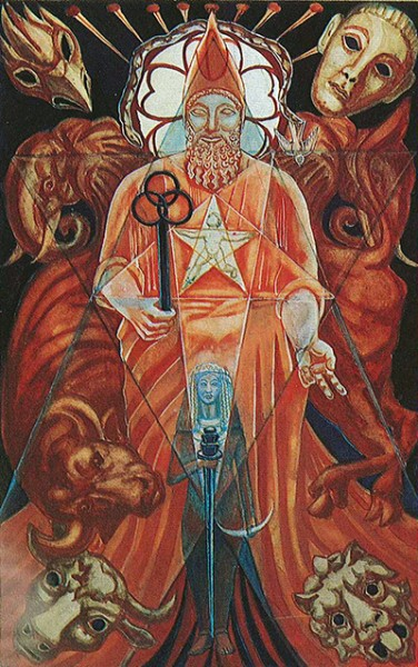 The Hierophant – Harris and Crowley Thoth tarot