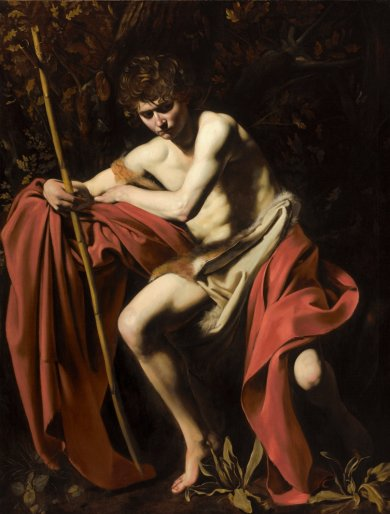 103 Caravaggio, Saint John the Baptist in the Wilderness